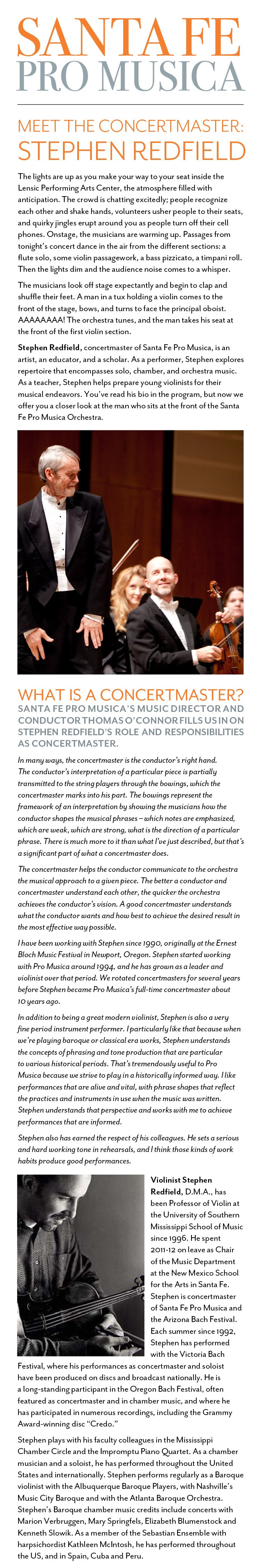 Meet the Concertmaster