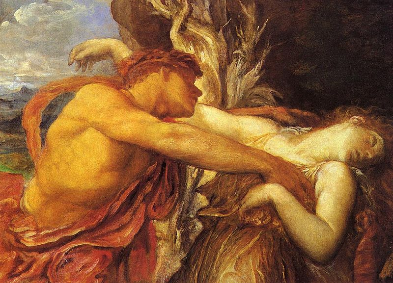 Orpheus and Eurydice by George Frederick Watts (Public Domain)