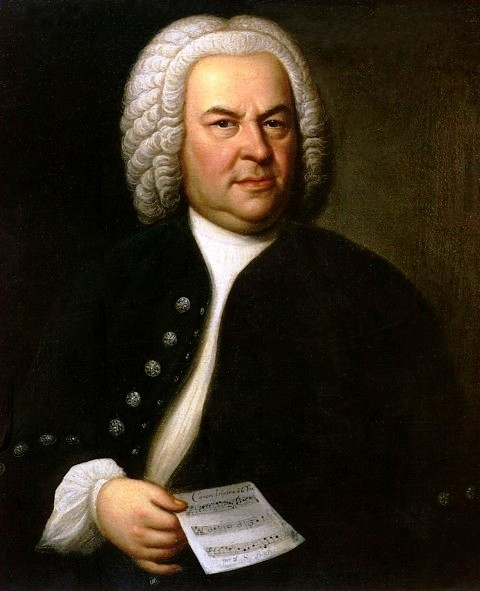 Portrait of Bach by Elias Gottlob Haussman (Image Public Domain)