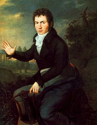 Portrait of Ludwig van Beethoven (1804) by Joseph Willibrord Mähler