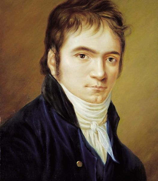 Portrait of Ludwig van Beethoven (1803) by Hornemann