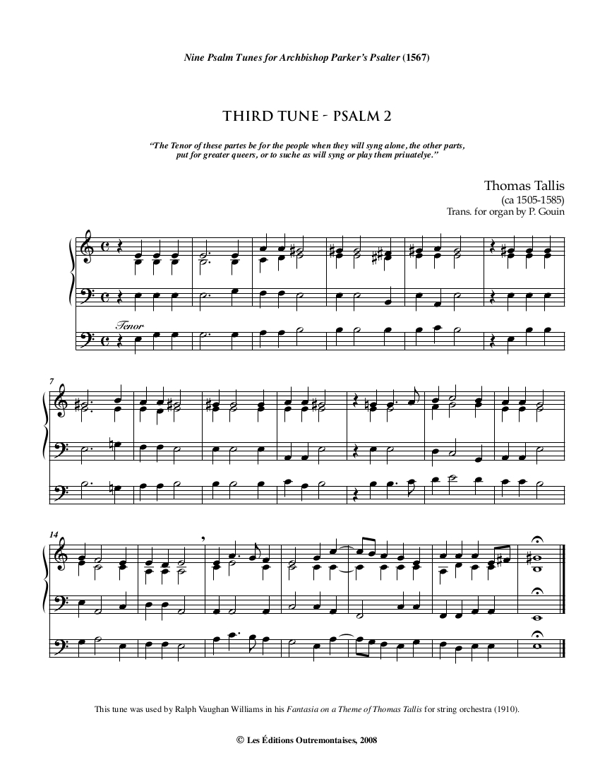 On A Theme By Thomas Tallis Santa Fe Pro Musica