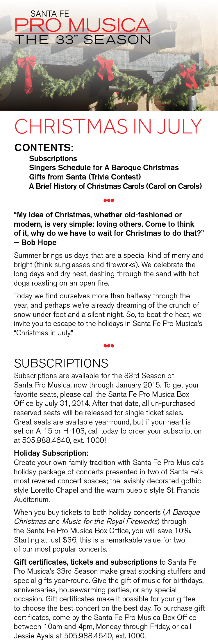 Christmas in July 1